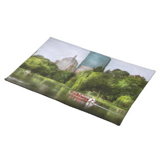 City - Boston Ma - Boston public garden Cloth Placemat