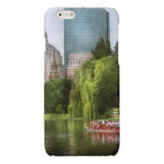 City - Boston Ma - Boston public garden Glossy iPhone 6 Case