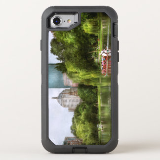 City - Boston Ma - Boston public garden OtterBox Defender iPhone 8/7 Case
