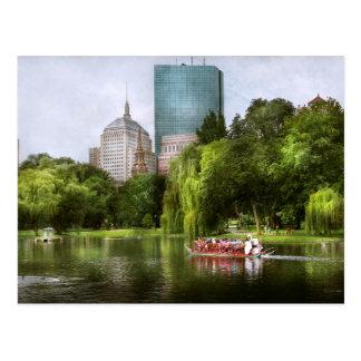 City - Boston Ma - Boston public garden Postcard