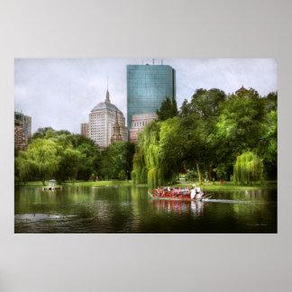 City - Boston Ma - Boston public garden Poster