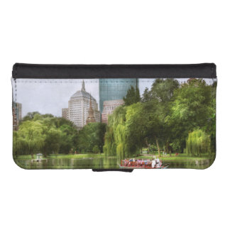 City - Boston Ma - Boston public garden Wallet Phone Case For iPhone SE/5/5s
