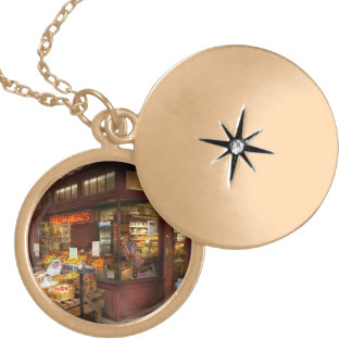City - Boston Ma - Fresh meats and Fruit Gold Plated Necklace
