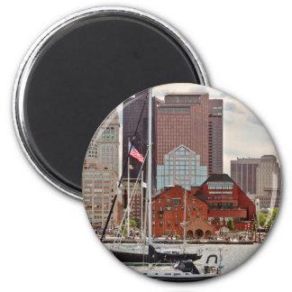 City - Boston Ma - Harbor walk skyline Magnet