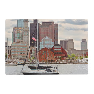 City - Boston Ma - Harbor walk skyline Placemat
