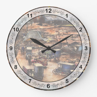 City - Boston Ma - The Great Molasses Flood 1919 Large Clock