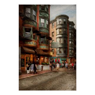 City - Boston MA - The North Square Poster