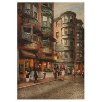 City - Boston MA - The North Square Wood Poster