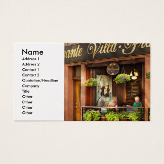 City - Boston MA - Villa Francesca Business Card