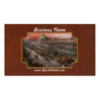 City - Boston Mass - Morning at the farmers market Business Card
