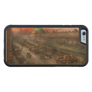 City - Boston Mass - Morning at the farmers market Carved® Maple iPhone 6 Bumper Case