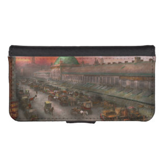 City - Boston Mass - Morning at the farmers market iPhone 5 Wallet Case
