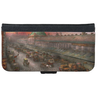 City - Boston Mass - Morning at the farmers market iPhone 6 Wallet Case