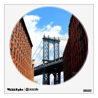 City Bridge Circle Window Wall Sticker