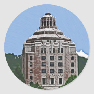 City Building, Asheville Classic Round Sticker