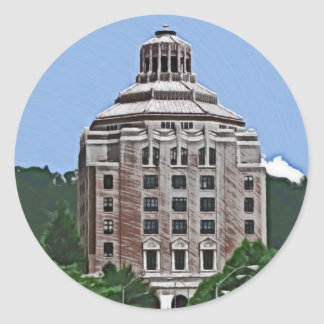 City Building, Asheville, NC Classic Round Sticker