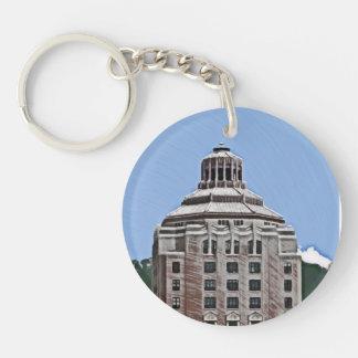 City Building, Asheville, NC Keychain