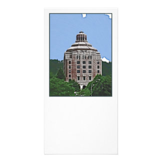 City Building Asheville NC Photo Greeting Card