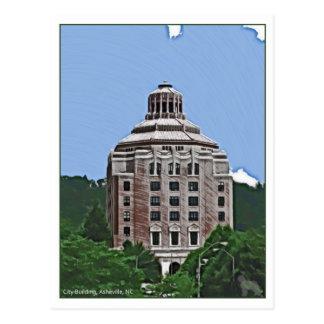 City Building, Asheville, NC Postcard