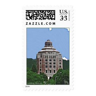 City Building, Asheville, NC Stamp