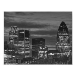 City Buildings in black and white Card