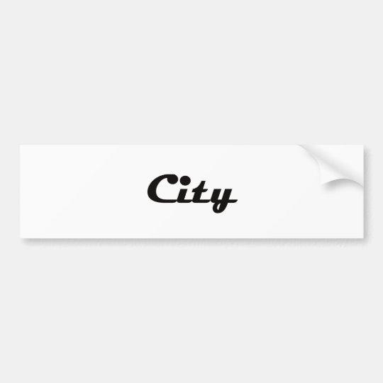 City Bumper Sticker