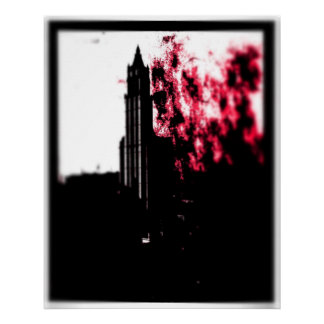 City Burning Canvas Poster