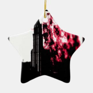 City Burning Ceramic Ornament