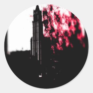 City Burning Classic Round Sticker