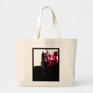 City Burning Large Tote Bag