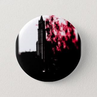 City Burning Pinback Button