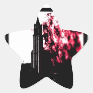 City Burning Star Sticker
