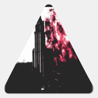 City Burning Triangle Sticker
