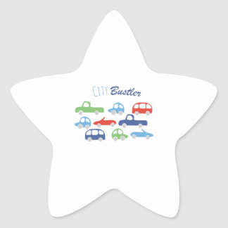 City Buster Star Sticker