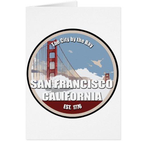 City by the bay, San Francisco California Card