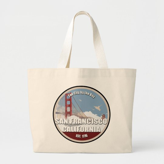 City by the bay, San Francisco California Large Tote Bag