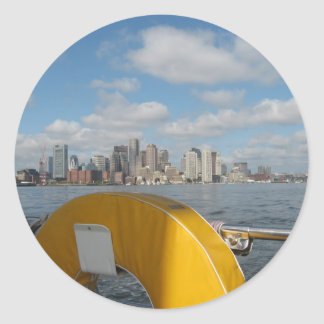 City by the Sea Classic Round Sticker
