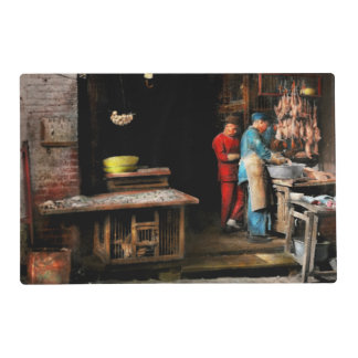 City - California - Fish Alley smells fowl 1886 Placemat