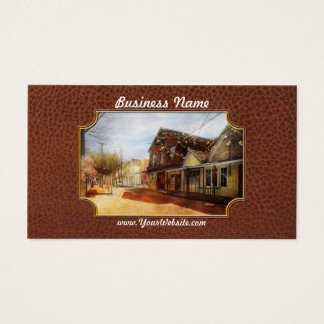 City - California - The town of Downieville 1933 Business Card