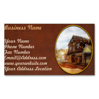 City - California - The town of Downieville 1933 Business Card Magnet
