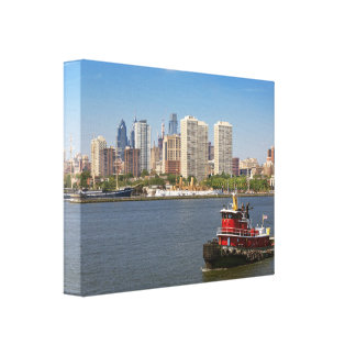 City - Camden, NJ - The city of Philadelphia Canvas Print