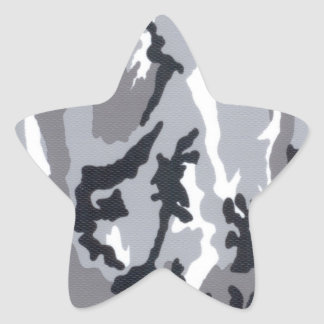 city Camo For Kids Star Sticker