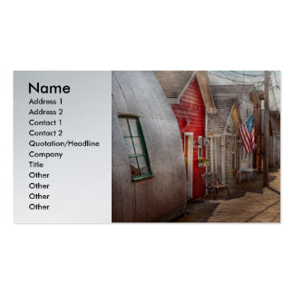 City - Canandaigua, NY - Shanty town Business Card Template