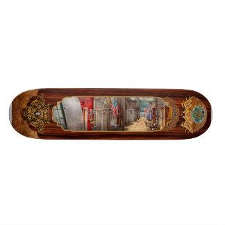 City - Canandaigua, NY - Shanty town Skateboard Deck