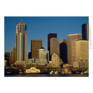 City Center Skyline Seattle Washington U S A Greeting Card