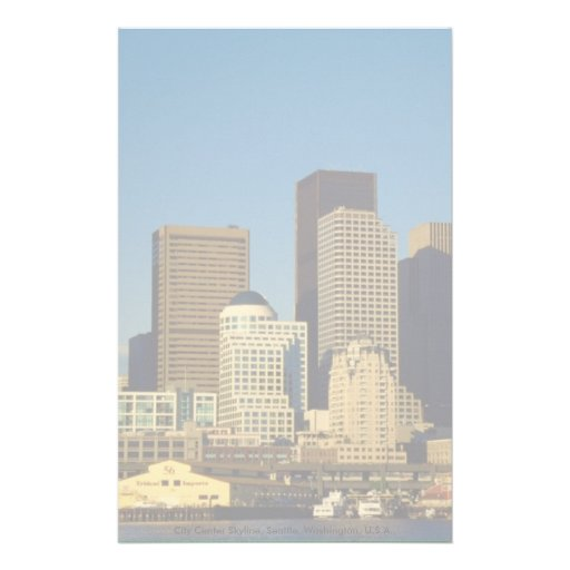 City Center Skyline, Seattle, Washington, U.S.A., Stationery