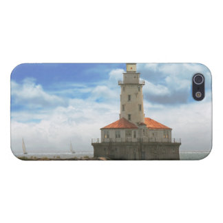 City - Chicago IL - Chicago harbor lighthouse Cover For iPhone SE/5/5s