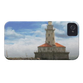 City - Chicago IL - Chicago harbor lighthouse iPhone 4 Case