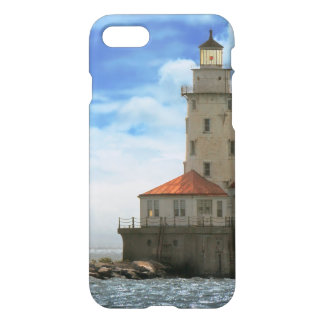 City - Chicago IL - Chicago harbor lighthouse iPhone 7 Case