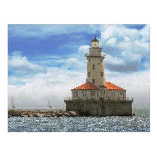 City - Chicago IL - Chicago harbor lighthouse Postcard